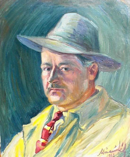 Móczár Károly 1962-ben festett önarcképe